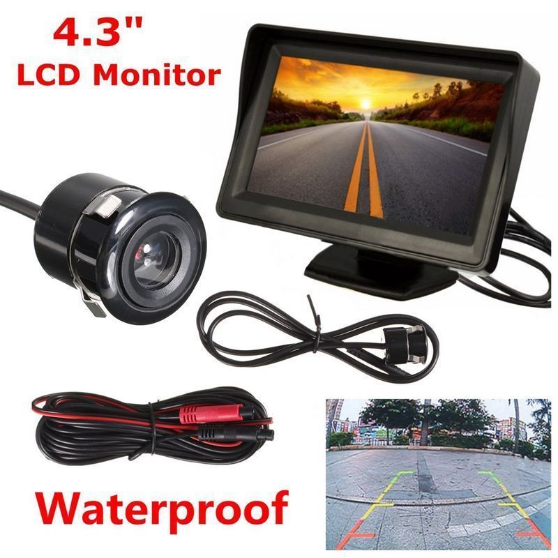 4.3inch TFT LCD Monitor Car Rear View System Backup Reverse Camera Night Vision