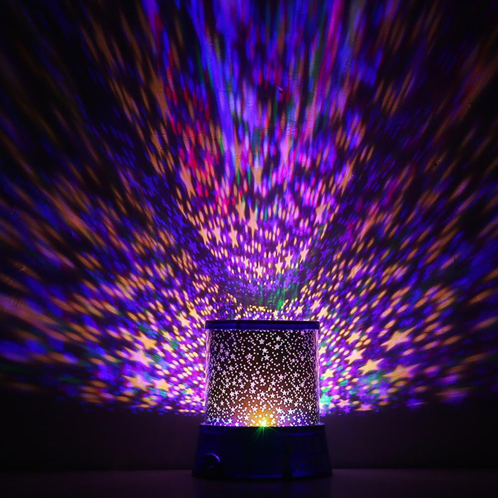 Star Light Projector LED Night Light Sky Star Moon Master Children Kids Baby Romantic Colorful Decor Battery Projection Lamp D35 in LED Night Lights from Lights Lighting