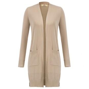 elegant Women's Casual Long Sleeve Open Front Long Knitting Coat Cardigan autumn warm slim fit Knitwear ladies casual Cardigan