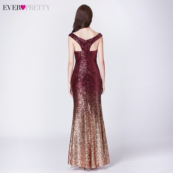 Sexy Prom Dresses Ever Pretty V-Neck Mermaid Sleeveless Sequined Spaghetti Strap EB29998 Gowns for Party Vestidos de Gala 2020 3