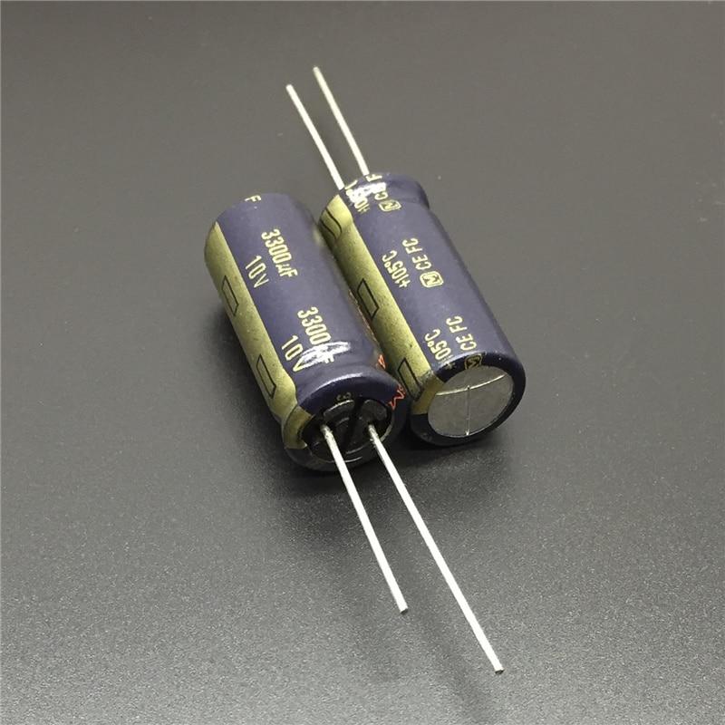 5pcs 3300uF 10V FC Series 12.5x30mm Low Impedance 10V3300uF Audio Grade Aluminum Electrolytic Capacitor