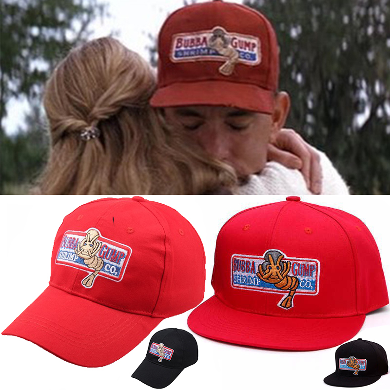 1994 Bubba Gump Shrimp CO. Baseball Hat Forrest Gump Costume Cosplay Embroidered Snapback Cap Men&Women Summer Cap wholesale