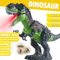 Large Size Walking Electric Dinosaur Robot Toys with Music Light Spray Walk Sounds Model Toys for Kids Gift