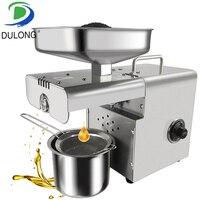 Мини пресс для холодного и горячего масла шнековый пресс для кокосового масла кунжута станок для изготовления масла семян опунции экстракт