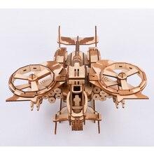 189 قطعة عالية الدقة قطع الليزر لغز ثلاثية الأبعاد خشبية بانوراما نموذج بناء أطقم Airplaine اللعب والهوايات انخفاض الشحن