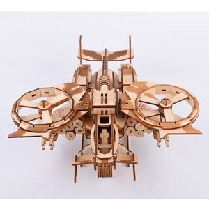 Image 1 - 189pcs High precision Laser Cutting Puzzle 3D Wooden Jigsaw Model Building Kits Airplaine Toys & Hobbies Drop shipping
