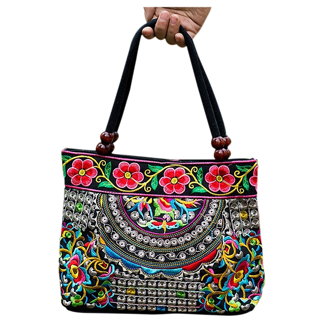 Chinese Style Women Handbag Embroidery Ethnic Summer Fashion Handmade Flowers Ladies Tote Shoulder Bags Cross-body Chinese Style Women Handbag Embroidery Ethnic Summer Fashion Handmade Flowers Ladies Tote Shoulder Bags Cross-body