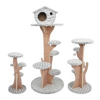 Cat Climbing Tree Tower Kitten Scratchers Cat Wood Jumping Scratching play Toys with Ladder Pet Supplies Climb Frames CW258