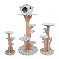 Cat Climbing Tree Tower Kitten Scratchers Cat Wood Jumping Scratching play Toys with Ladder Pet Supplies Climb Frames CW258