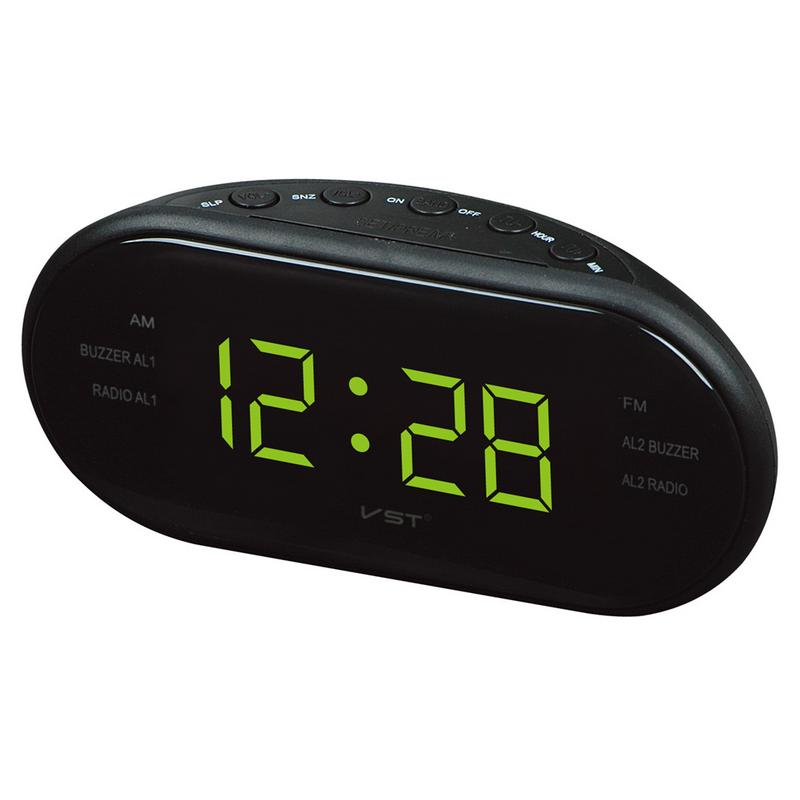Portable Speaker LED Digital Alarm Clock AM/FM Dual Channel Radio Multi function Player Stereo Hd Sounds Devices Home Office-in Portable Speakers from Consumer Electronics