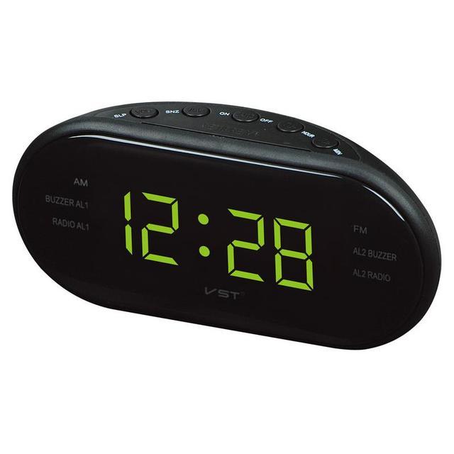 Przenośny głośnik LED cyfrowy budzik zegar AM/FM podwójny kanał Radio odtwarzacz wielofunkcyjny Stereo Hd dźwięki urządzeń biuro w domu