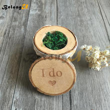 1pcs I do Wedding Ring Box Decoration Pillow Party Decorations Wood Rustic Decor Supplies for Decorating