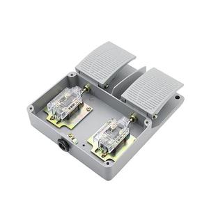 Image 5 - מתג רגל YDT1 16 אלומיניום מעטפת אפור כפול דוושת מתג מכונה כלי אביזרי מתג