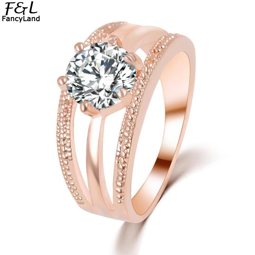 2018 Exquisite Women Oval Rings Jewelry Bride Engagement Wedding Ring Fashion Fancinating Ornaments Stylish Women Ring