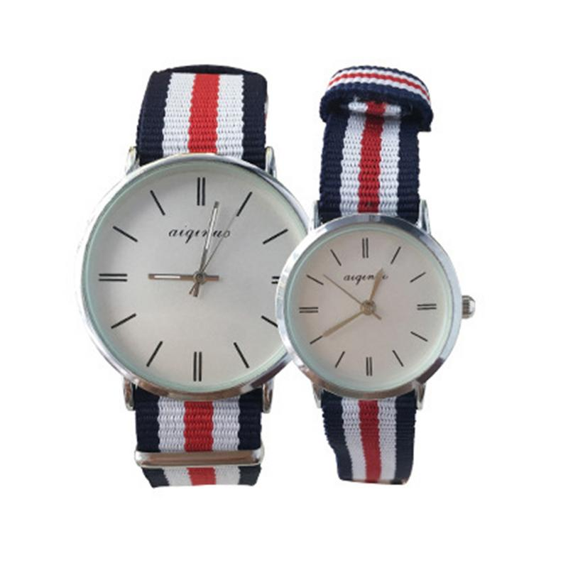 New Brand Couple Watches For Men Women Ultra Slim Quartz Watch With Simple Nylon Band Relogio Masculino Fashion Wristwatches