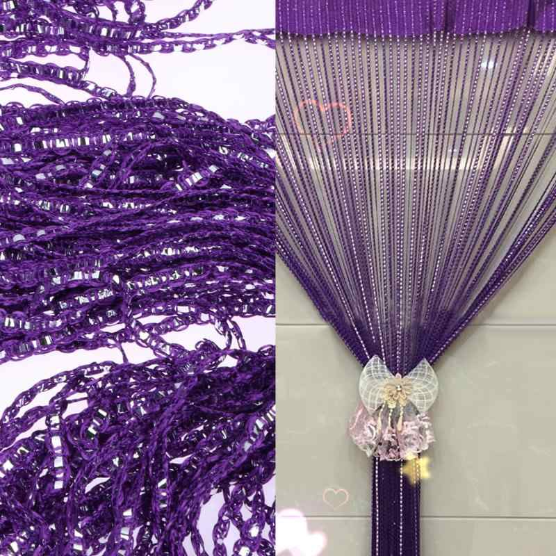 hot sale 1m*2m Silver Leather Line Curtain String Curtain Door Window Decoration Multi-purpose finished wire curtain