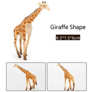 Image 5 - 12Pcs Simulated Wild Animals Model Toy Doll Lion Zebra Panda Orangutan Giraffe Rhinoceros Tiger PVC Action Figure Hot Set Toys