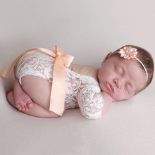 Newborn Photography Props Baby Girl Lace Romper Infant Photo Shoot Clot