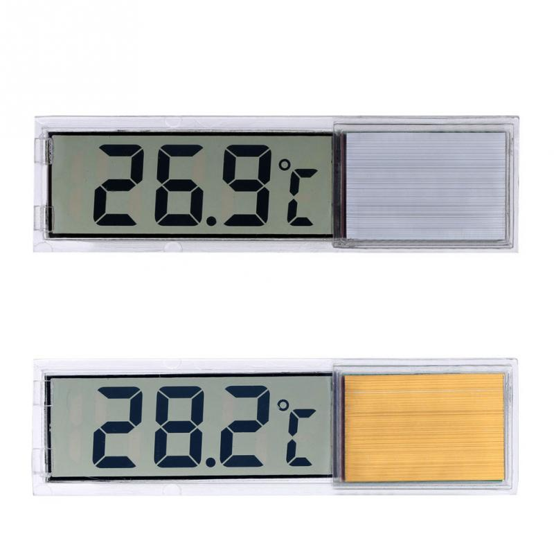 Hot Multi-funktion Lcd 3d Kristall Digitale Elektronische Temperatur Messung Aquarium Aquarium Thermometer Zufällige Farbe