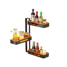 Especias Accessories Sink Rangement Organisateur Dish Drying Rotate Rack Cocina Organizador Cuisine Kitchen Organizer