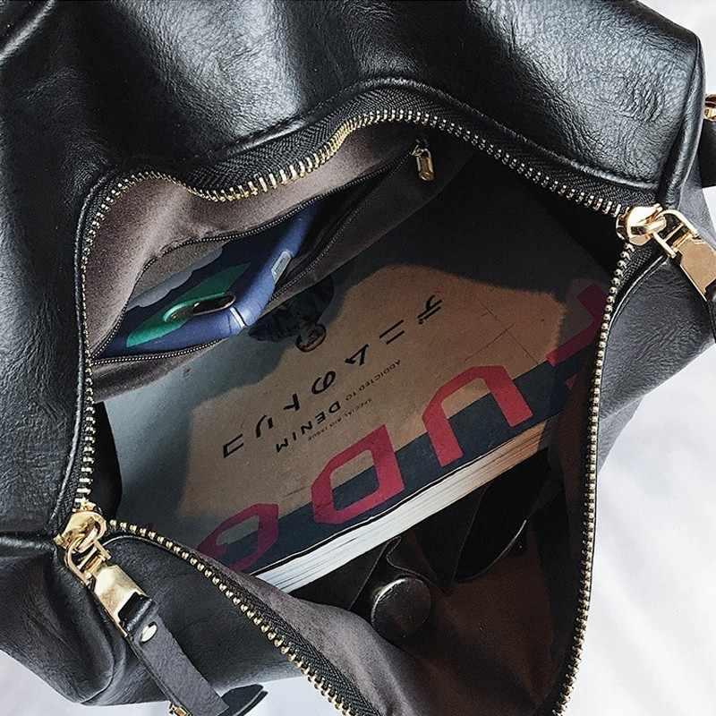 Herald mode rétro grand sac à dos femmes sac à dos en simili cuir polyuréthane sac à dos femme voyage sacs à dos épaule cartables Mochila