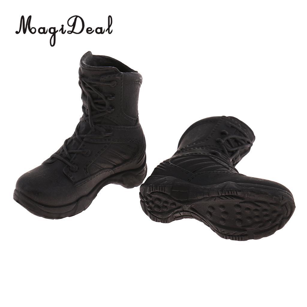 6 à 12 pouces Bottes de combat pour femmes de 1 chaussures pour figure