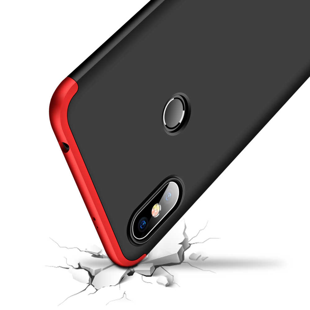 purchase cheap d0bf9 c4ac3 Xiaomi Redmi S2 Case 360 Degree Full Body Cover Case For Xiaomi Redmi S 2  Shockproof Case with Tempered Glass for red mi s2