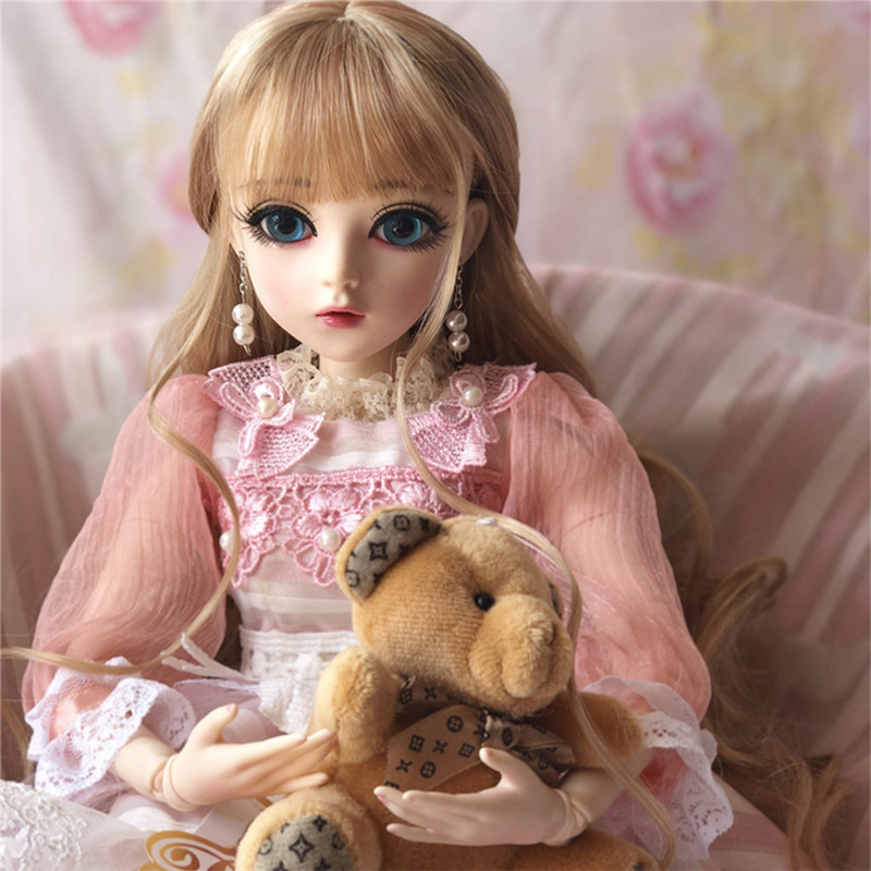 60CM BJD Doll Girls Princess Makeup Toys Jointed With Full Outfit SD Dolls Children DIY Dress Up Doll Valentines Gift