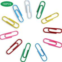 100Pcs Colorful Paper Clips Classified Notes Clips For Kids Student School Stationery Office Supplies Mulifunction Paperclips
