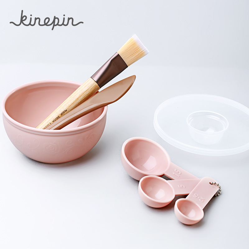KINEPIN Face Mask Bowl Set 7 In 1 DIY Mask Tool Kit Mask Brush Mixing Stick Spatula Measuring Spoon Face Care Mask Beauty Tools