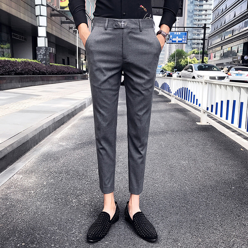 Men Tartan Plaids Embroidered Military Show Club Wear Button Up Suit Jacket Pant