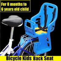 Bicycle Bike Seat Kids Safety Children Cycling Back Seat Saddle with Chair Armrest/Safety belt/Rear Footrest Bike Stroller