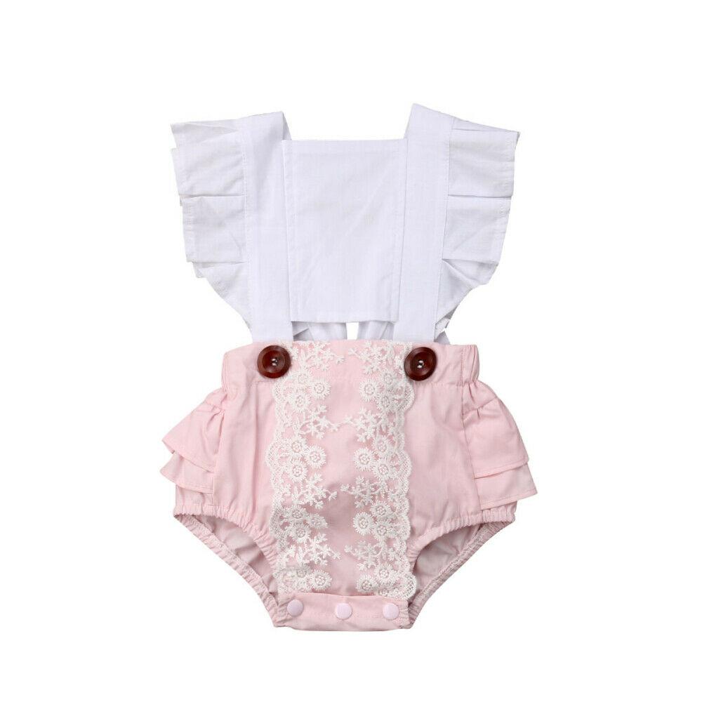 2019 комбинезон с открытой спиной для новорожденных девочек, комбинезон, боди, летняя одежда