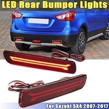 1 пара для Suzuki SX4 2007-2017 12 V автомобиль красный мигающий светодиодный задний бампер отражатель для вождения тормоза Tail Туман свет лампы