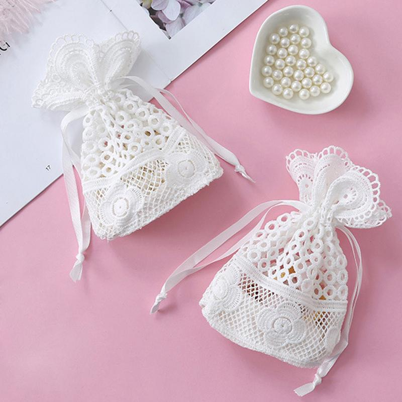 Drawstring Bag Jewelry Bags Box Packaging Gift Bags Wedding Birthday Candy Box Chocolate Bags Lace Pack Decoration Storage Packs