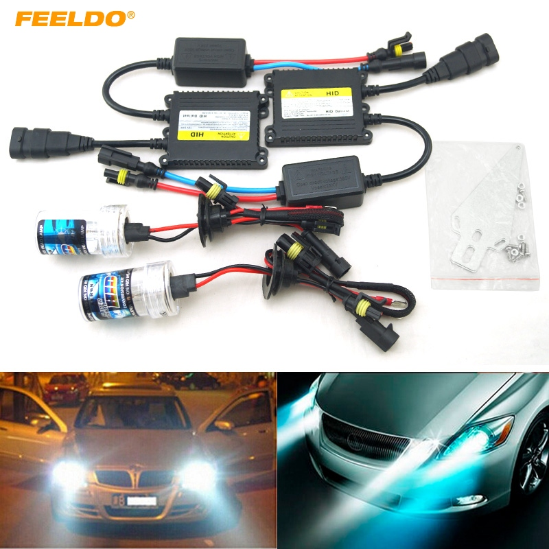 FEELDO 1 Set AC 12 V 35 W H1/H3/H7/H8/H10/H11/9005/9006 xénon HID Kit voiture phare ampoule xénon lampe Ballast numérique