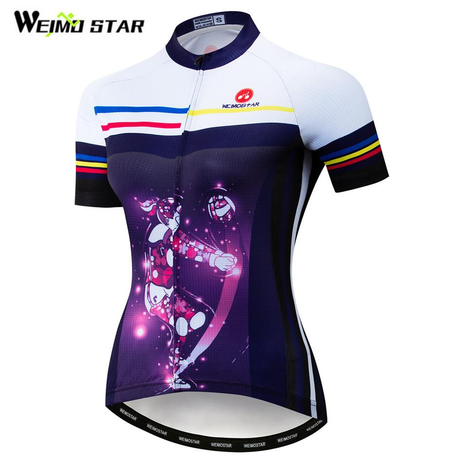 Weimostar Pro Summer Short Sleeve Cycling Clothing Team Sports MTB Bike Jersey Breathable Bicycle Shirt Racing Road Cycling Wear