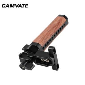 Image 4 - Impugnatura in legno con impugnatura superiore per gabbia per videocamera CAMVATE con morsetto a stelo singolo Standard da 15mm e supporto per slitta per supporto gabbia per fotocamera DSLR