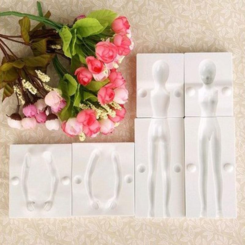 1 Набор инструментов для украшения торта, 3D-форма для людей в форме сахарной помадки, аксессуары для выпечки, кухонные гаджеты для торта и фи...