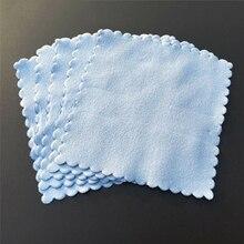 20 panos de limpeza de microfibra dos pces jogos de revestimento cerâmicos nano do carro revestimento de vidro do carro pano sem fiapos 10*10 cm azul