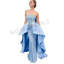 Mermaid Lace Evening Dress With Train robe de soiree 2018