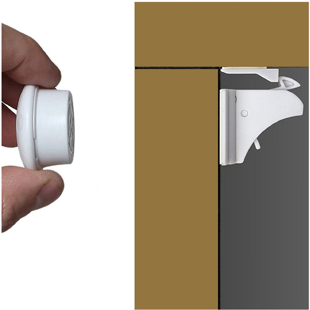 Bambino magnetico serrature di Blocco 4-12 + 1-3key Del Bambino Protezioni di Sicurezza Del Bambino Gabinetto di Blocco Della Porta Per Bambini Cassetto Armadio di Sicurezza serrature invisibile 2