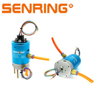 4 Passages Rotary Unions joints 12 Wires 5A Signal Transmitter Slip Ring