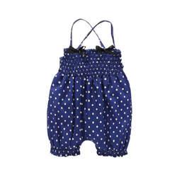 Комбинезон, Детский комбинезон для маленьких девочек, пляжный костюм, короткие штаны, без рукавов, с принтом в горошек, летняя хлопковая