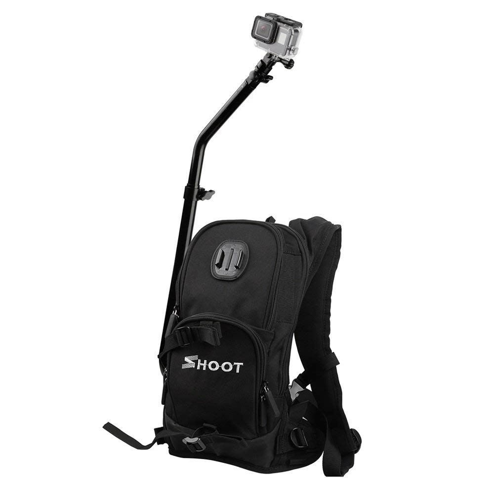 Top Deals SHOOT Backpack Quick Assembly Guide Sports Bag for GoPro Hero 7/6/5/4/3+/3 xiaoyi SJ Cam Action Camera for Bicycle