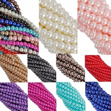New Hot Jewelry Findings 4 6 8 10mm Charms Glass Pearl Spacer Loose Beads High-quality Wholesale  Handmade wholesale