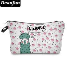Deanfun Printing Cute Llama Cosmetic Bag Waterproof Makeup Bags Cosmetics Pouchs Storage for Travel  51438 #