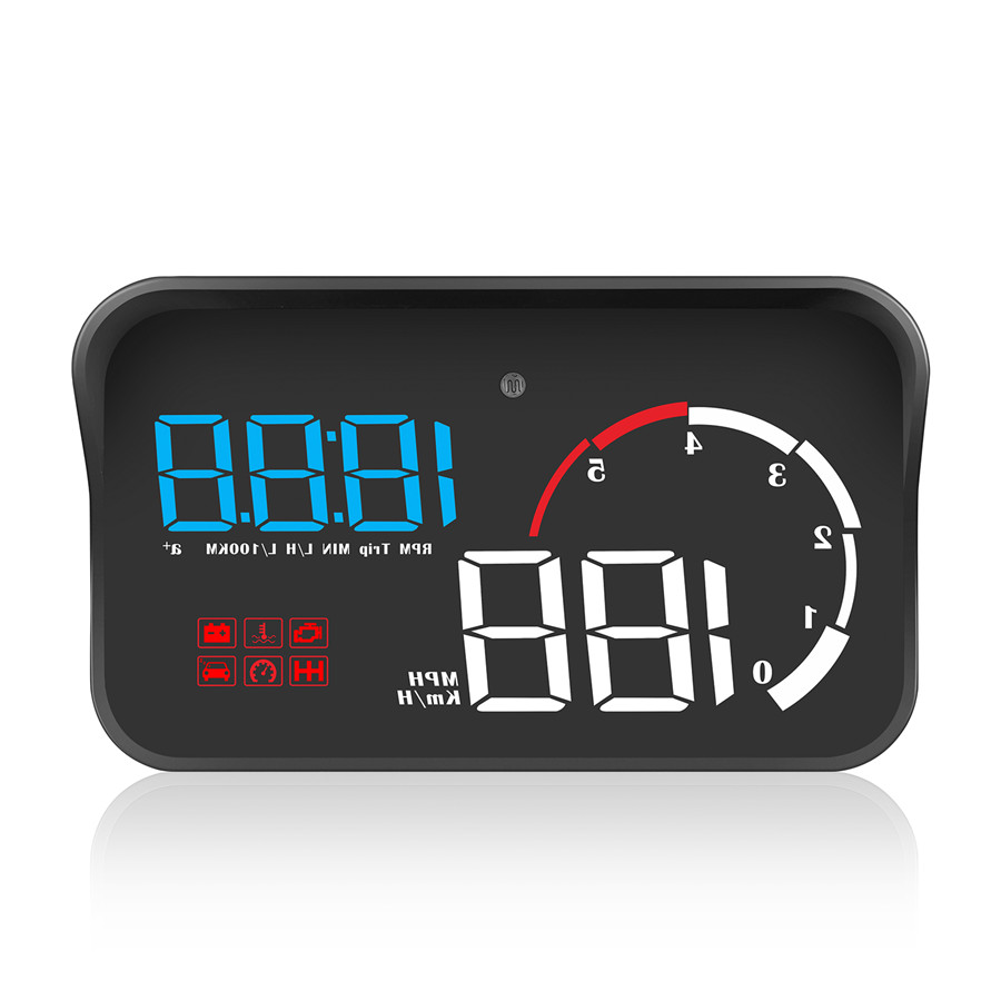 Автомобильный HUD Head-Up OBD2 Предупреждение об/мин температура воды Напряжение расход топлива превышение скорости сигнализации