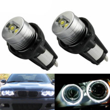 2 шт. высокое Мощность 20 Вт светодиодный автомобиля подсветка «глаза ангела» для BMW E90 E91 3 серии blue-ray специальные украшения противотуманных фар