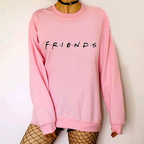 Fashion New Men Women Unisex FRIENDS Letter Print Hoodie Sweatshirt Loose Slouch Pullover SweaterShirt Jumper Tops 5Color image